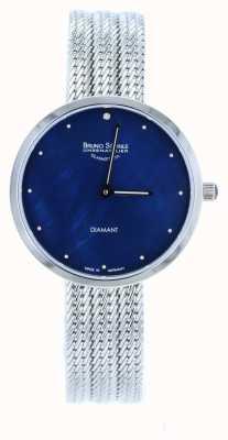 Bruno Sohnle Nofrit 34mm roestvrij staal mesh horloge 17-13171-350