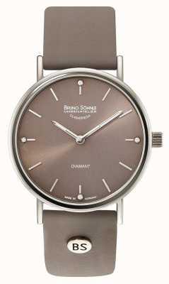 Bruno Sohnle Flamur II 35mm grijs leer horloge 17-13124-891