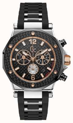 Gc 3 heren speciaal chronograaf zilver zwart rond horloge X72036G2S