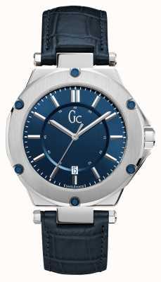 Gc 3 heren sport datum sunray wijzerplaat blauw horloge X12004G7S