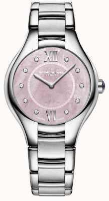 Raymond Weil Dames noemie diamant quartz parelmoer horloge 5132-ST-00986