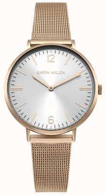 Karen Millen Rozengouden roestvrijstalen mesh armband van vrouwen KM163RGM