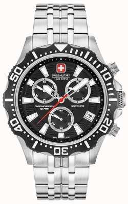 Swiss Military Hanowa Herenpatroon chronograaf mat zwarte wijzerplaat 06-5305.04.007