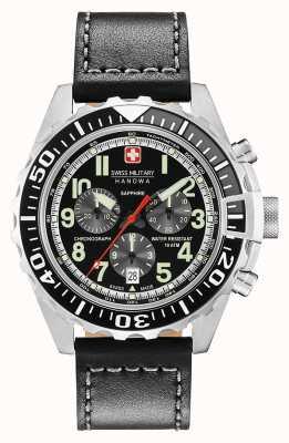 Swiss Military Hanowa Mens touchdown chronograaf roestvrijstalen behuizing 06-4304.04.007.07
