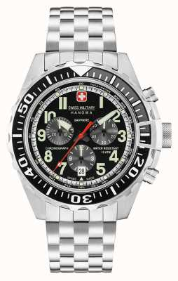 Swiss Military Hanowa Mens touchdown chronograaf zwart 06-5304.04.007