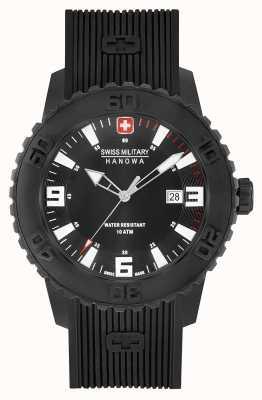 Swiss Military Hanowa Mens twilight ii zwart siliconen horloge 06-4302.27.007