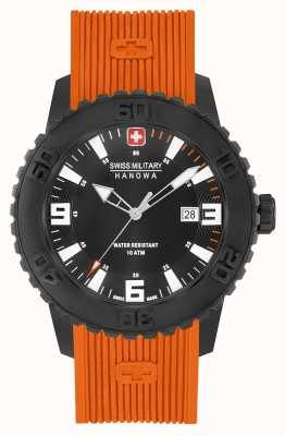 Swiss Military Hanowa Mens twilight ii oranje siliconen horloge 06-4302.27.007.79