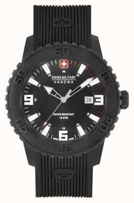 Swiss Military Hanowa Mens twilight ii zwart siliconen horloge 06-4302.27.007.04