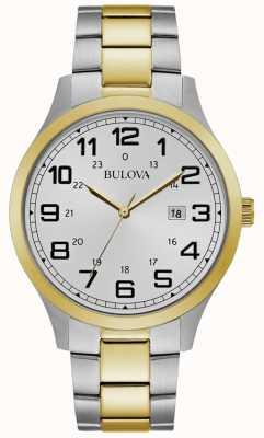 Bulova Herenhorloge met twee kleuren roestvrijstalen armband 98B304