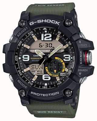 Casio G-shock mudmaster dubbele sensor kompas groene riem GG-1000-1A3ER