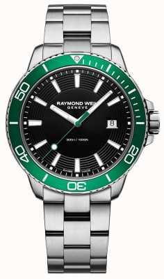 Raymond Weil Tango groene bezel roestvrij stalen horloge 8260-ST7-20001