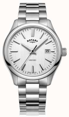 Rotary Heren oxford roestvrij stalen armband horloge GB05092/02