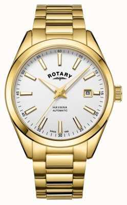Rotary Herenhorloge van havana zilver wit roestvrij staal GB05081/02