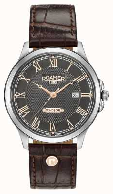 Roamer Heren windsor bruin lederen band 706856410207
