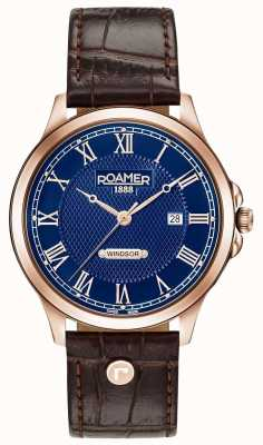 Roamer Heren windsor bruin lederen band 706856494207