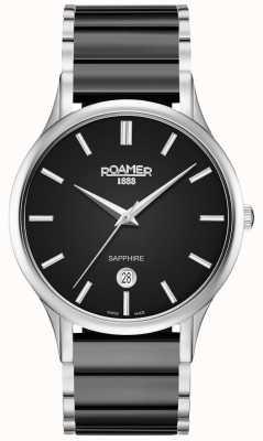 Roamer Heren c-line black ceramic horloge zilveren kast 657833415560