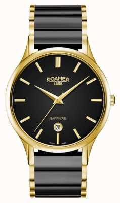 Roamer Heren c-line zwarte keramische gouden horlogekast 657833485560