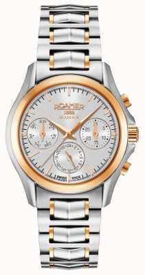 Roamer Womens searock chronograaf zilver en rosé goud 203901491520
