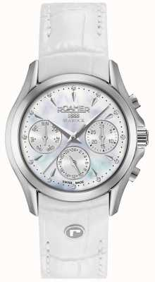 Roamer Womens searock chronograaf witte lederen band 203901411002