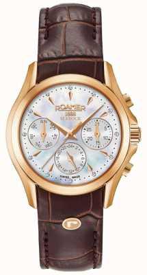 Roamer Bruine sokjock chronograaf leren riem 203901491002