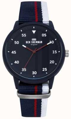 Ben Sherman Heren blauw horloge WB076U
