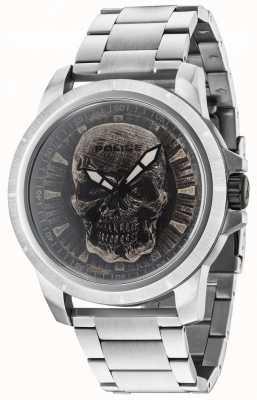 Police Reaper zilveren armband zilveren schedelplaat 14385JS/57M