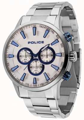 Police Momentum roestvrij stalen armband met zilveren wijzerplaat 15000JS/04M