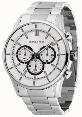 Police Spoed roestvrijstalen armband met zilveren wijzerplaat 15001JS/04M