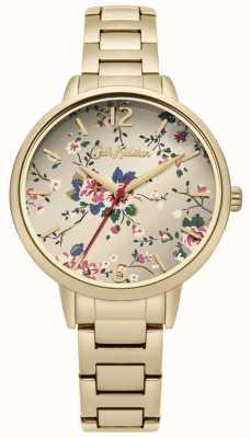 Cath Kidston Gouden armband met bloemenprint CKL038GM