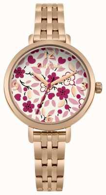 Cath Kidston Rose gouden armband met bloemenprint CKL037RGM