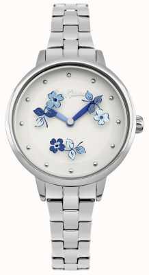 Cath Kidston Blauwkleurige roestvrijstalen armband met witte wijzerplaat CKL039SM