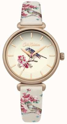 Cath Kidston Floral vogel print band bloemen bridgetelefoon vergulde behuizing CKL041EG