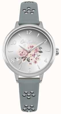 Cath Kidston Laser uitgesneden bloemenriem met florale wijzerplaat zilveren kast CKL043US