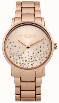Daisy Dixon Rose gouden armband rose gouden sunray wijzerplaat DD053RGM