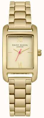 Daisy Dixon Gouden armband met gouden satijnen wijzerplaat DD057GM