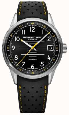 Raymond Weil Mens freelancer automatische zwarte rubberen band zwarte wijzerplaat 2754-SR-05200