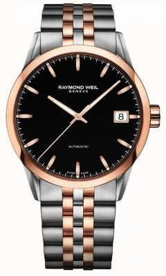 Raymond Weil Mens freelancer automatische rose 2-tone roestvrij staal 2740-SP5-20011