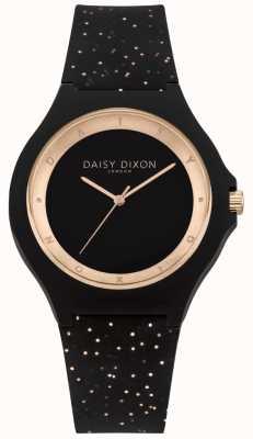 Daisy Dixon Zwart en roségoud glitter siliconen band DD031BRG