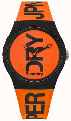 Superdry Oranje wijzerplaat oranje siliconen band SYG189OB