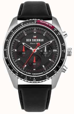 Ben Sherman De ronnie chronograaf zonneknop rode highlights WBS108RB