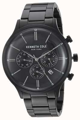 Kenneth Cole New York zwarte wijzerplaat zwart roestvrij staal kast datumweergave KC15177003
