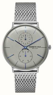 Kenneth Cole New York quartz grijs wijzerplaat roestvrij stalen mesh armband KC15188002