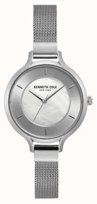 Kenneth Cole Dameshorloge armband in edelstaal van new york, zilver KC15187002