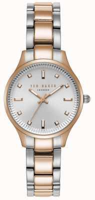 Ted Baker Dames zoe tweekleurige armband zilveren wijzerplaat TE50006002