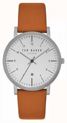 Ted Baker Samuel witte wijzerplaat lichtbruine lederen band TE15088002