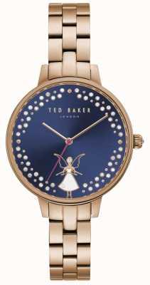 Ted Baker Kate-feeënkristal van vrouwen met donkerblauwe wijzerplaat TE50005002