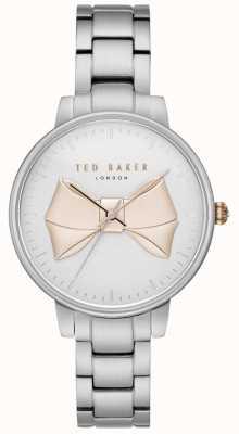 Ted Baker Dames beek gouden boog wijzerplaat zilveren roestvrij stalen armband TE15197004