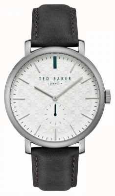 Ted Baker Trent witte wijzerplaat in zilver edelstaal kast TE15193007