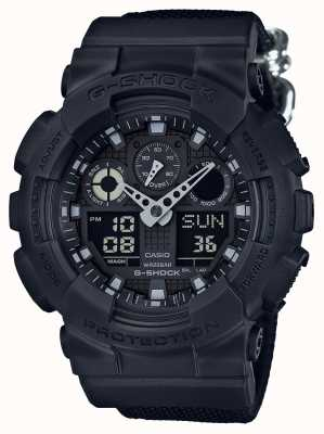 Casio G-shock chronograafalarm met verduistering GA-100BBN-1AER
