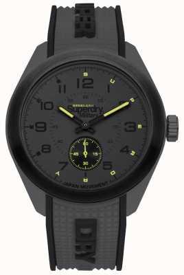 Superdry Zwarte rubberen draagbeugel van Navigator in zwarte en grijze twee tonen SYG214E